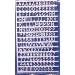 Letters en cijfers 10mm