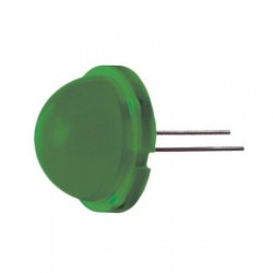 Led 20mm groen  diffuus