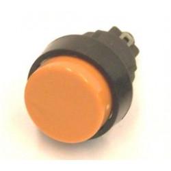 puls-drukschakelaar 250v 2A 1x maak oranje  gat-16mm