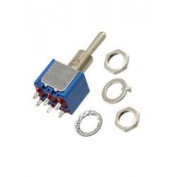 tuimelschakelaar mini 2x  aan/aan/aan  gat-6.5mm