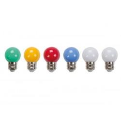 Gekleurde LED feestlampjes 6x -prikkabel-
