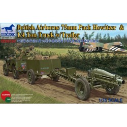 BRITISH AIRBORNE 75MM HOW.&TR 1/35