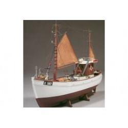 Vissersboot mary ann H-55cm B-16cm H-43cm