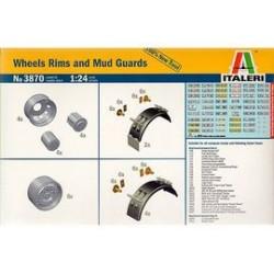 Wheel rims+mud quards 1/24