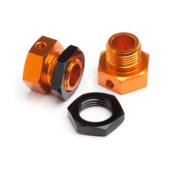 6.7mm Hex Wheel Adapter Trophy Buggy (Orange/Black) 2st.