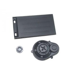 Batt. door + motor gear cover 1/12 racers