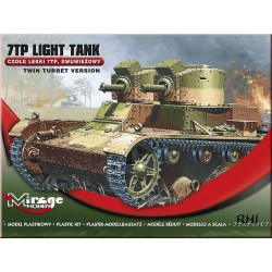 WWII 7TP LIGHT TANK GERMAN/POLAND TWIN TURRET 1/72