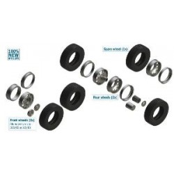 EURO TRACTOR TYRES AND RIMS 1/24 (2xFR-2xRE)