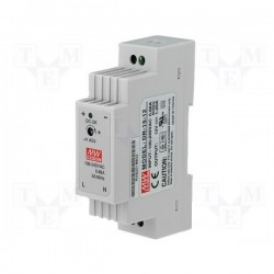 12V DC 1.25A voeding DIN rail 25mm  (meanwell)