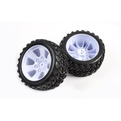 1/10 truggy band+velg wit 2st
