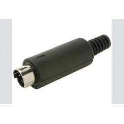 Mini-din 3p.    plug male