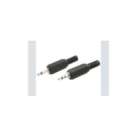2.5mm plug      mono plastic