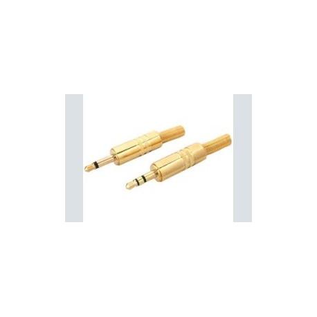 3.5mm plug      mono verguld