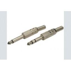 6.3mm plug      mono metaal