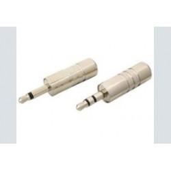 3.5mm plug      stereo metaal