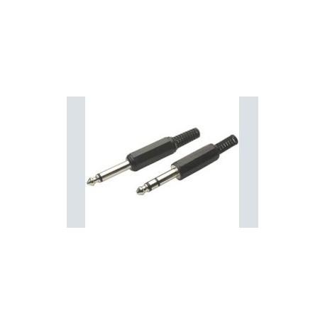 6.3mm plug      stereo plastic