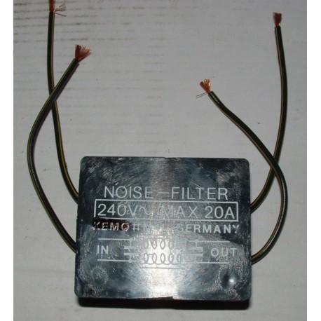 Ontstoorfilter 240V max 20A (continu 6A)