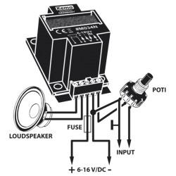 Audio Versterker 40W 6-16V