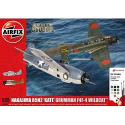 GESCHENKSET DD B5N KATE / WILDCAT F4F-4 1/72