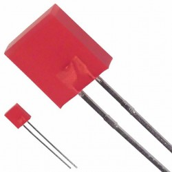 Led 2x5mm rood  diffuus