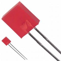 Led 2x5mm rood  diffuus
