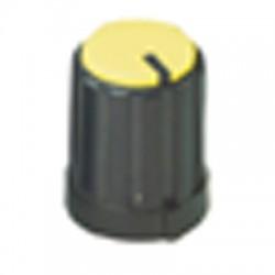 potmeter kartelas knop geel 16x12mm