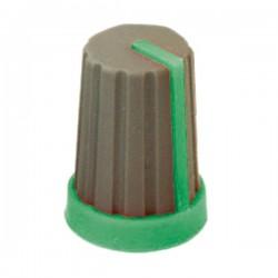 potmeter kartelas knop groen 17x11mm