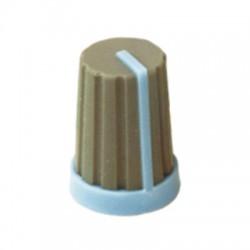 potmeter kartelas knop blauw 17x11mm