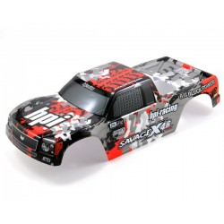 1/8 Nitro GT-3 Truck body (GRAY/RED/BLACK) PAINTED