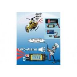 LiPo tester meter met in-model alarm 1-6s