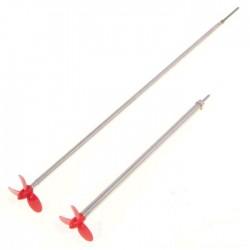 2mm schroefas 15cm met 30mm 3-blads schroef R-draaiend