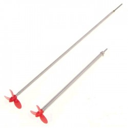 2mm schroefas 20cm met 30mm 3-blads schroef L-draaiend
