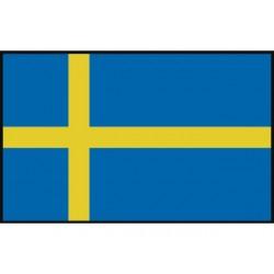 Zweedse vlag 20x30 mm