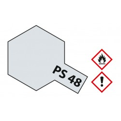 Polycarb spuitbus metallic silver PS-48 100ml.