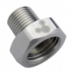 Airbrush koppeling binnendraad G1/8 - buitendraad G1/4