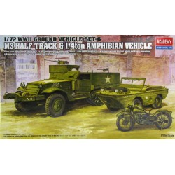 M3.HALF TRACK & 1/4TON AMPHI VEHICLE 1/72