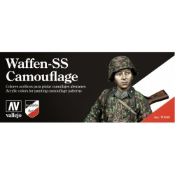 Waffen-SS camouflage paint set 8st.