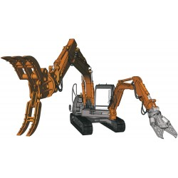 HITACHI DOUBLE ARM WORKING MACHINE 1/35
