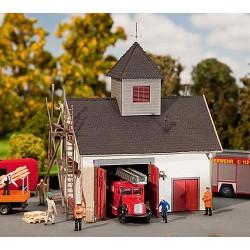 HO brandweerkazerne 13x100x14cm