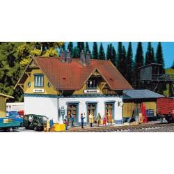 """HO station """"Blumenveld"""" 25x14x12cm"""