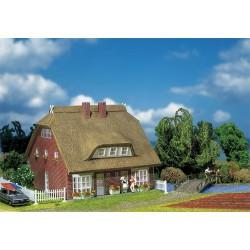 HO woonhuis met rieten kap 160x125x112
