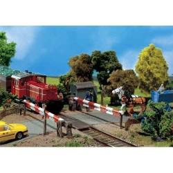 HO enkel spoorwegovergang 15x14x3,2cm