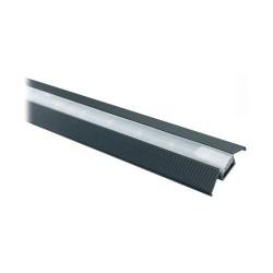 LEDstrip loopprofiel zwart kunststof 2mtr
