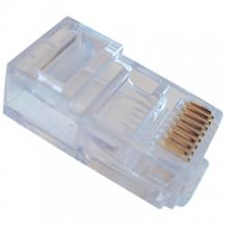 Plug 8p8c rj45  rond massief