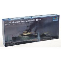 GERMAN ZERSTORER Z-21 1940 1/700
