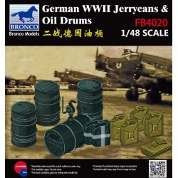 WWII GERMAN JERRYCANS & OIL DRUMS 1/48