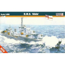 BRITISH WWII DESTROYER H.M.S. SIKHT 1/600
