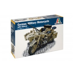 GERMAN MILITARY MOTOR WITH SIDECAR 1/9