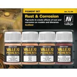 Pigment set rust&corrosion 4x35ml