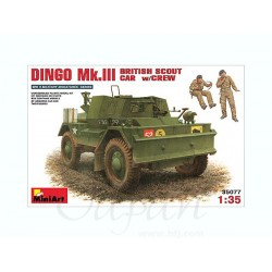DINGO MK.III BRITISH SCOUT CAR w/CREW 1/35